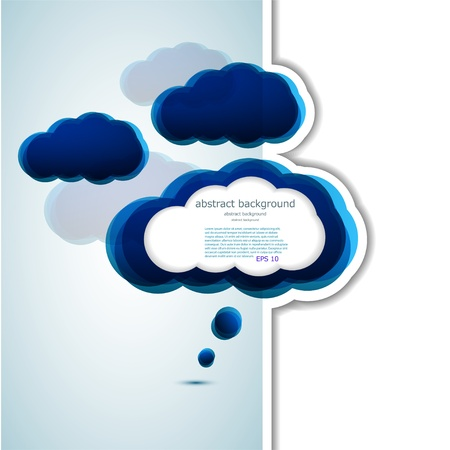 Vector cloud design element with place for your text.  Stock Vector - 14912677