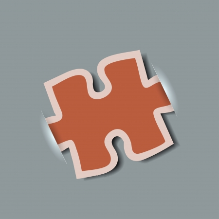 Vector creative computer puzzle background. Vector