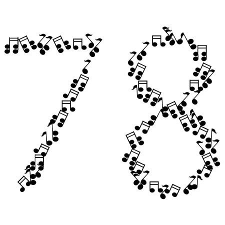 7 8: music numbers Illustration