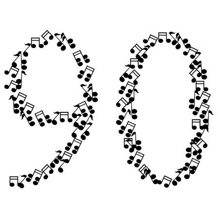 zero: music numbers Illustration