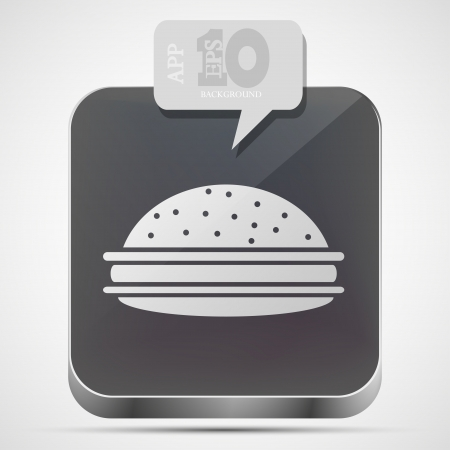 hamburger app icon with gray bubble speech Vector