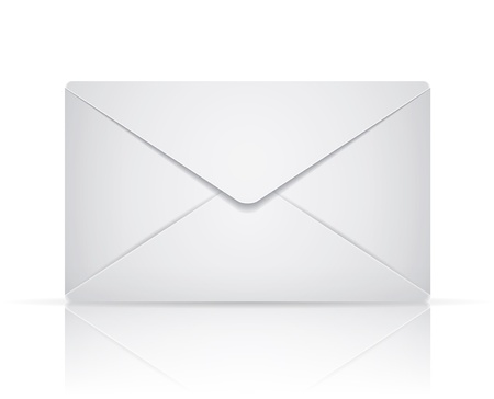 envelope on white background Vector