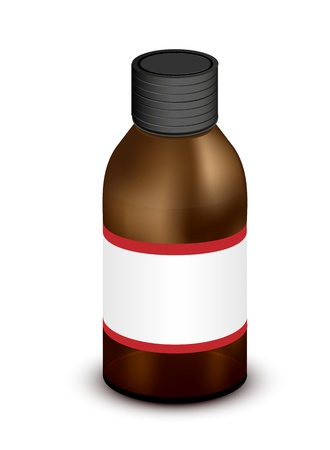 brown medicine bottle  Vector