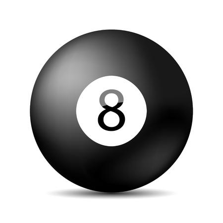 bola de billar: billar pool 8