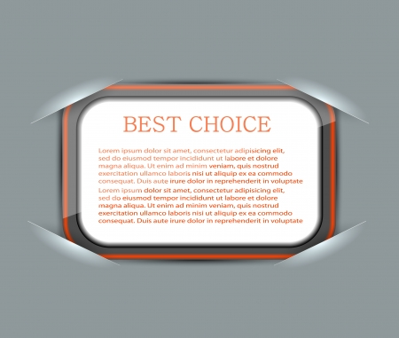 blank with place for your text Stock Vector - 15056570