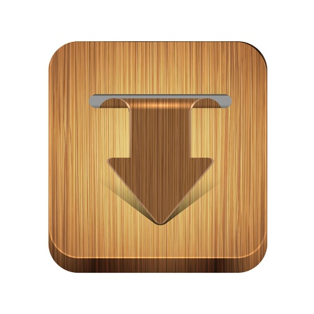 wooden app icon Stock Vector - 15056516