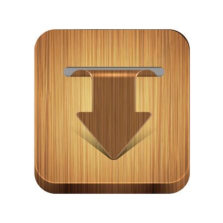 wooden app icon Stock Vector - 15056516