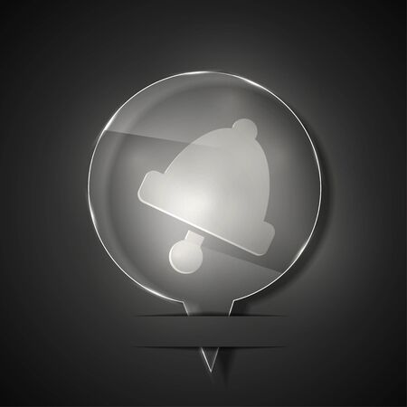 glass bell icon on gray background. Stock Vector - 15145846