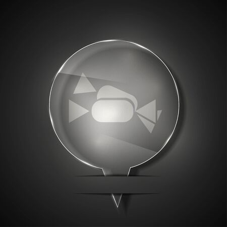 glass candy icon on gray background.  Vector