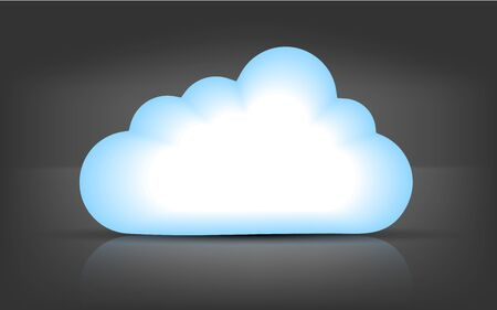 Vector computer cloud on black bsckground. Eps 10 Stock Vector - 15145302