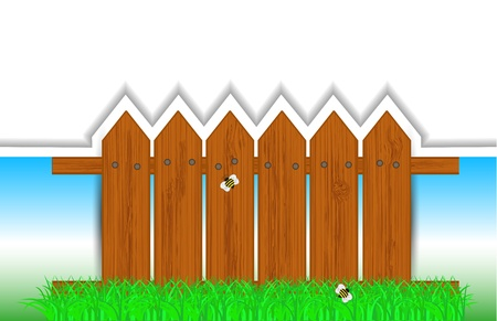 creative fence background with place for your text.  illustration Vector