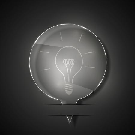 vidrio icono idea sobre fondo gris.