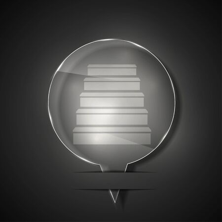 glass ladder icon on gray background. Stock Vector - 15145711