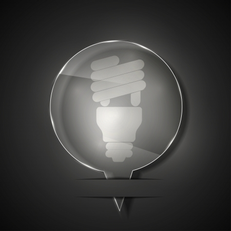 scriibble:  glass light bulb icon on gray background.