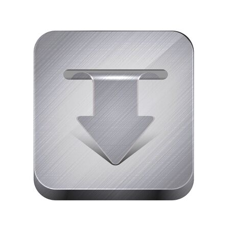 metal app icon isolated on white.  Vector