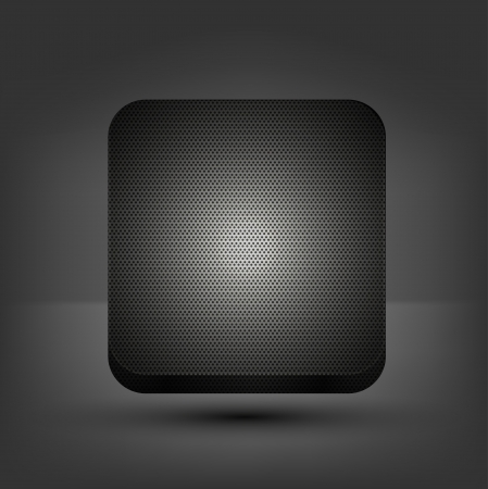 metal app icon on gray background.  Vector