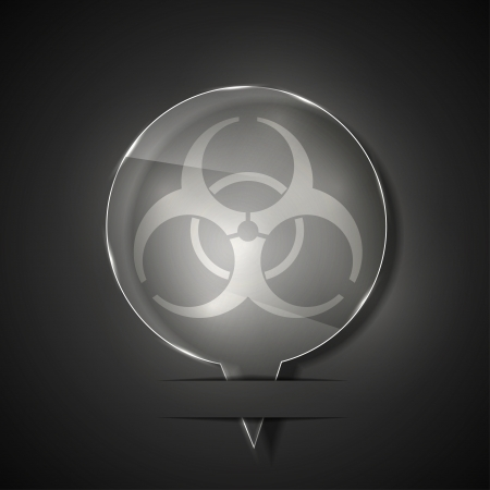 glass  radiation icon on gray background. Stock Vector - 15146086