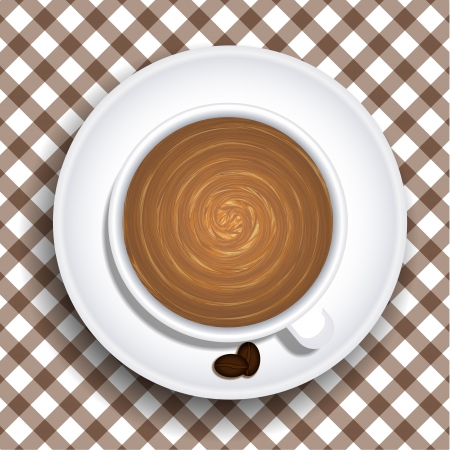 Vector a cup of coffee. Stock Vector - 15436488