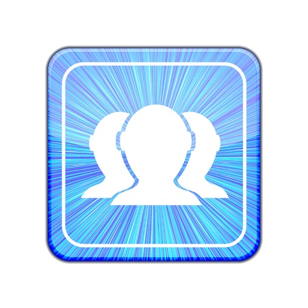Vector version. Group of friends icon Stock Vector - 15436774