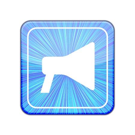 public speaker: Vector version.  loudspeaker icon.    Illustration