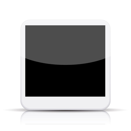 vector photo app icon on white background.  Vector