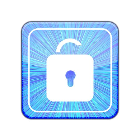 Vector version. Unlock icon. Stock Vector - 15436770
