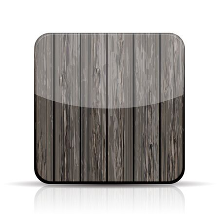 Vector wooden app icon on white background. Stock Vector - 15436396