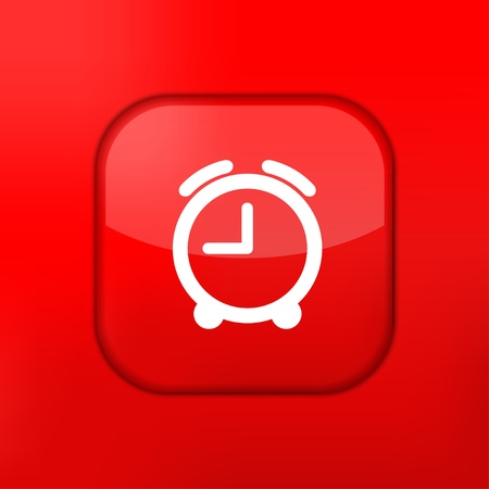 phone the clock: Vector red clock icon. Eps10. Easy to edit