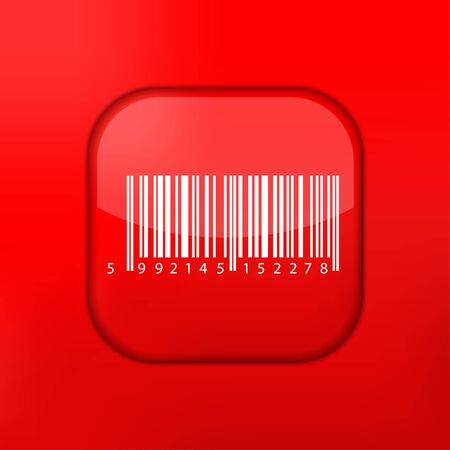 Vector red bar code icon. Eps10. Easy to edit Stock Vector - 15709546