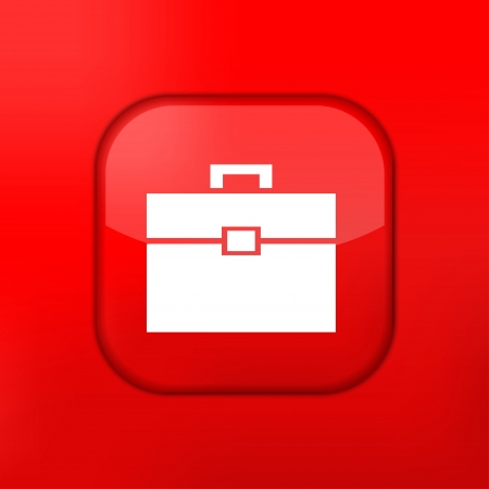 briefcase icon: Vector rojo icono Malet�n. Eps10. F�cil de editar Vectores