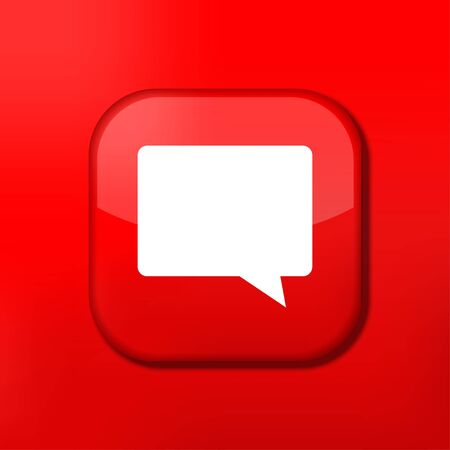 Vector red Bubble speech icon. Eps10. Easy to edit Vector