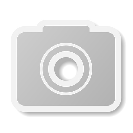 Vector camera icon on white background. Eps10 Vector