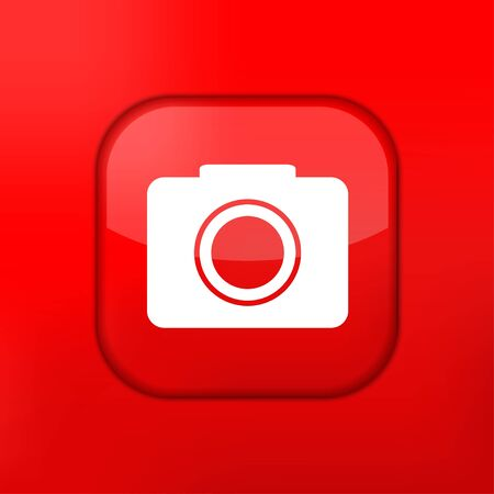Vector red camera icon. Eps10. Easy to edit Vector