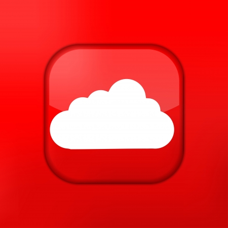 Vector red cloud icon. Eps10. Easy to edit Stock Vector - 15709465