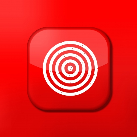 sports app: Vector red darts icon. Eps10. Easy to edit