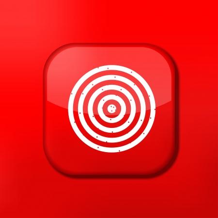 doelstelling: Vector rode darts pictogram. Eps10. Gemakkelijk te bewerken
