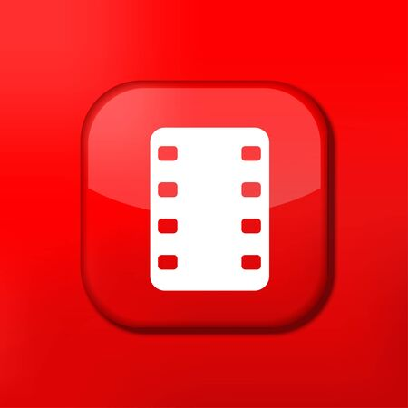 eps10: Vector red film icon. Eps10. Easy to edit