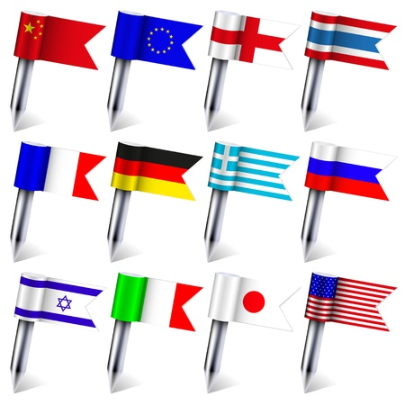 Vector. the flags of the world isolated on white background. Eps10 Stock Vector - 15709583