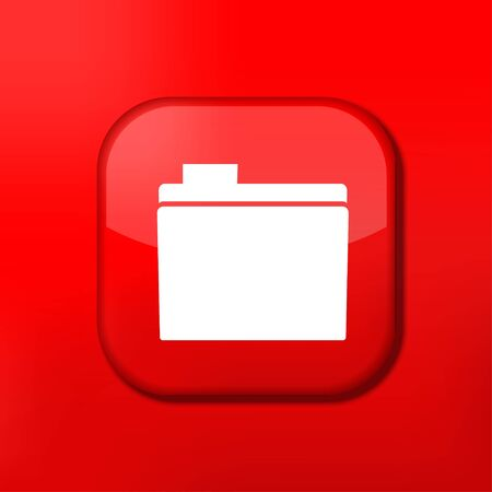 Vector red folder icon. Eps10. Easy to edit Stock Vector - 15708971