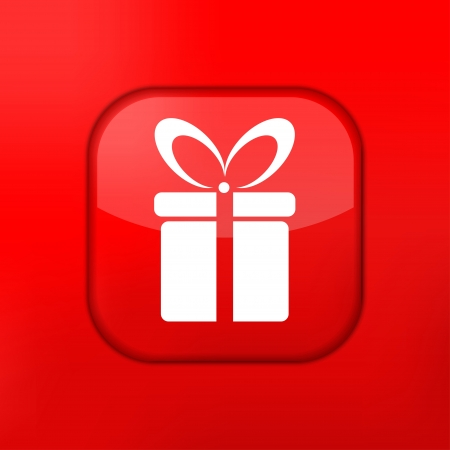 Vector red gift icon. Eps10. Easy to edit Stock Vector - 15709476