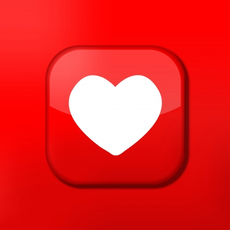 Vector red heart icon. Eps10. Easy to edit Stock Vector - 15708969