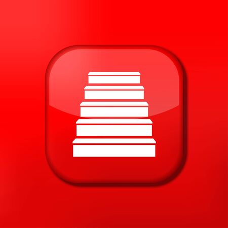 Vector red ladder icon. Eps10. Easy to edit Stock Vector - 15709087