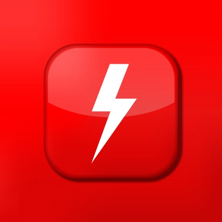 Vector red  lightning icon. Eps10. Easy to edit Stock Vector - 15708974