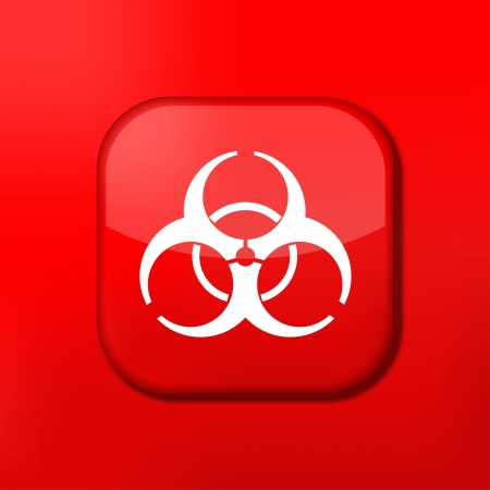 Vector red radiation icon. Eps10. Easy to edit Stock Vector - 15709091