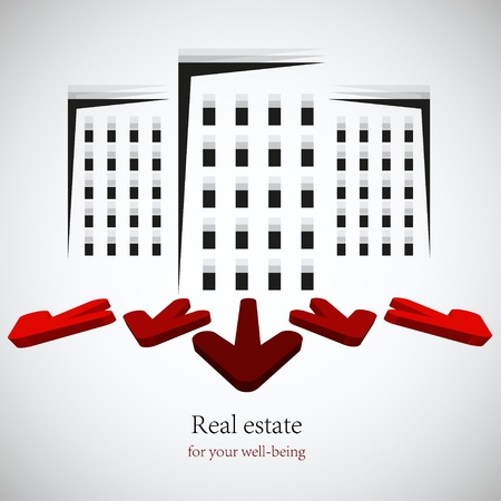 vector real estate background. Eps10 Vector