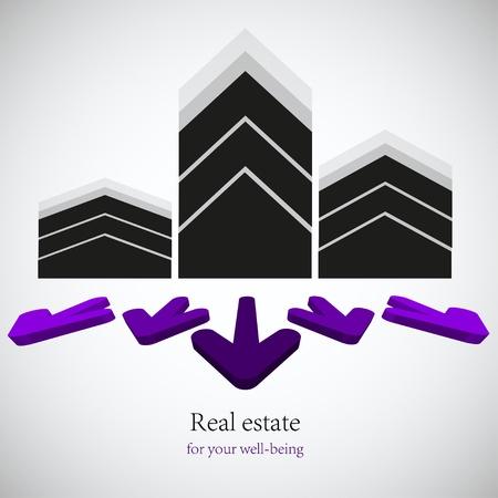 vector real estate background. Eps10 Vetores