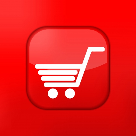 Vector red Shopping icon. Eps10. Easy to edit Stock Vector - 15709535