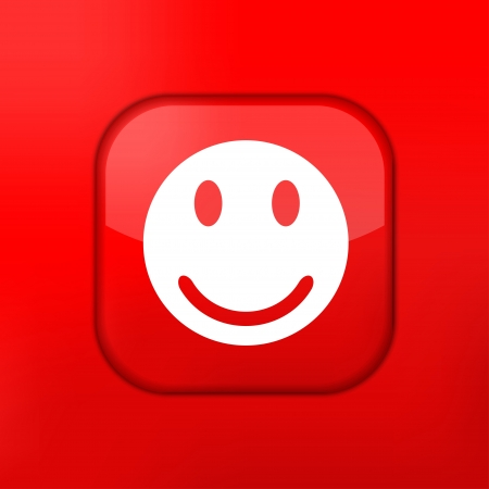 Vector red smile icon. Eps10. Easy to edit Stock Vector - 15709532