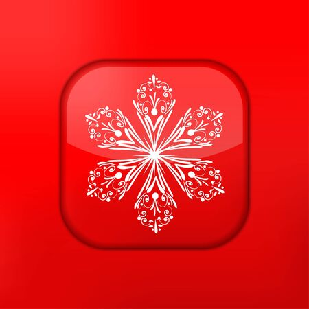 Vector red Snowflake icon. Eps10. Easy to edit Stock Vector - 15709572