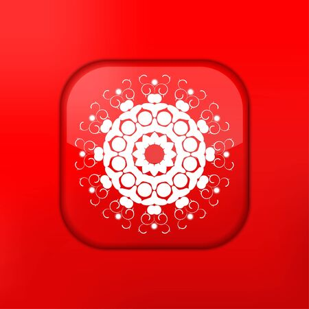 Vector red Snowflake icon. Eps10. Easy to edit Vector